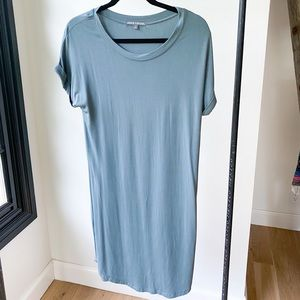 THREADS 4 THOUGHT blue t shirt dress rolled sleeve